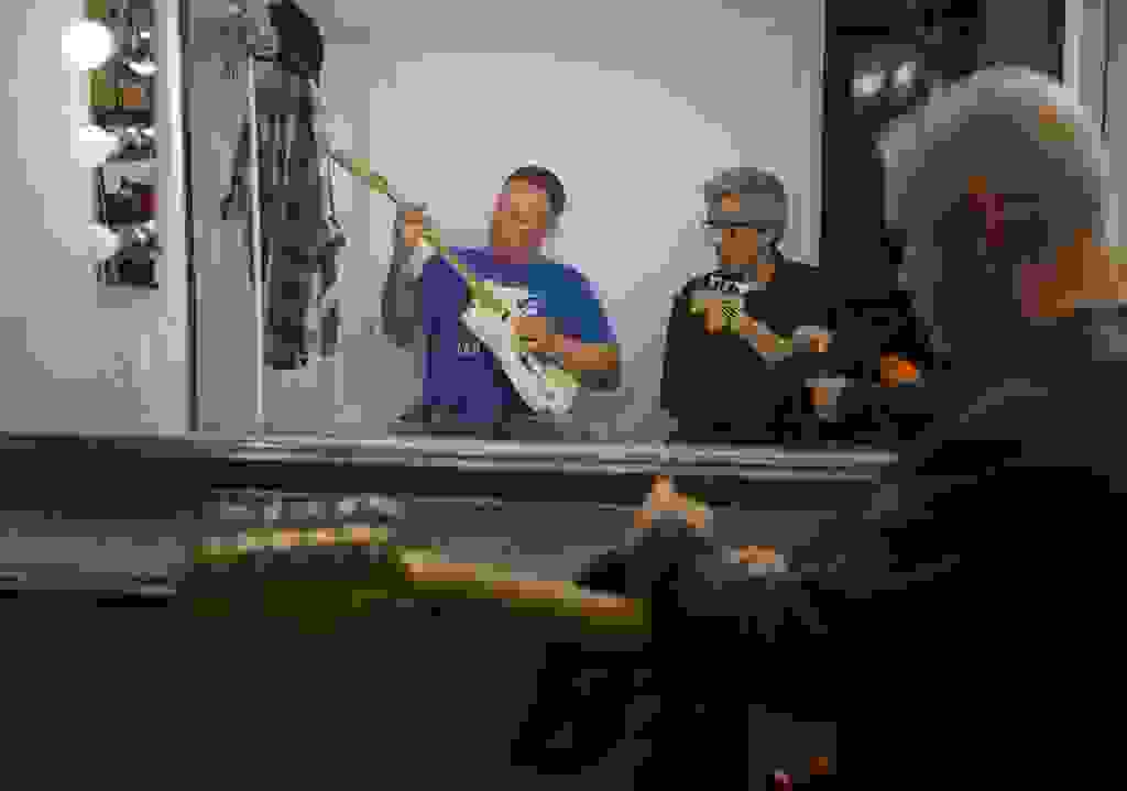 backstage - DJ, Dan, Jeff